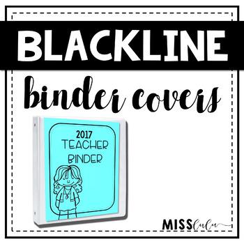 Blackline Binder Covers {Editable}