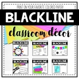 Blackline Classroom Decor Bundle