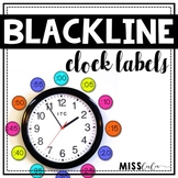 Blackline Clock Labels