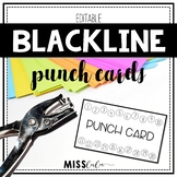 Blackline Editable Punch Pass Cards