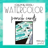 Calm & Cool Watercolor Editable Punch Pass Cards