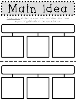 Reading Graphic Organizers (B&W)