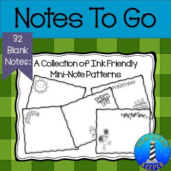 Blank Notes for use with Staff and Students. (Ink Friendly)