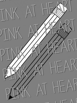 Pencil Clip Art - Blackline