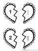 Black & White Valentine's Math Center: Match Numbers Tally Marks Base Ten Block