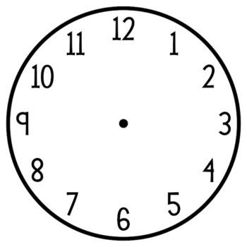 blackline clip art clock template analog and digital by juniper s own rh teacherspayteachers com Funny Clock Face Clip Art Digital Clock Numbers