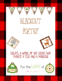 Blackout Poetry *FREEBIE*