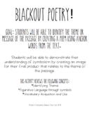 Blackout Poetry Guideline and Student Checklist!