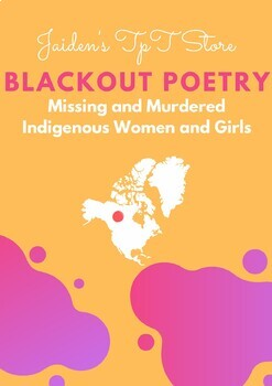 Blackout Poetry: Missing & Murdered Indigenous Women and Girls