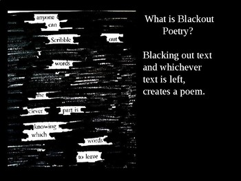 blackout poetry powerpoint presentation by art education inspiration. Black Bedroom Furniture Sets. Home Design Ideas