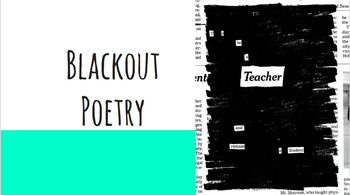 Blackout Poetry - Using Virtual News Articles to Create Blackout Poems