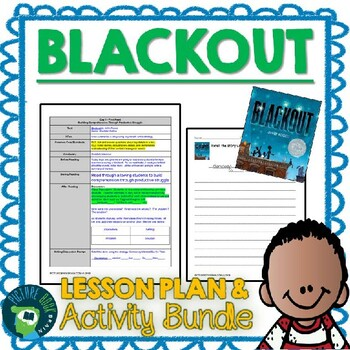 Blackout by John Rocco Lesson Planner and Activities