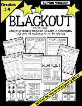 Blackout by John Rocco: Reading response activity/workshee