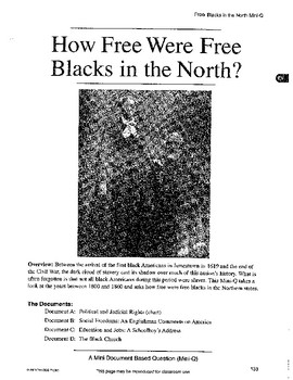 Blacks in the North: DBQ