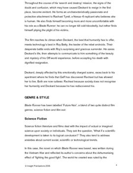 Blade Runner Insight Text Article