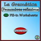 Reflexive Pronoun Worksheet Practice - Los Pronombres Reflexivos