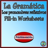 Reflexive Pronoun Fill-in Worksheet Practice - Los Pronombres Reflexivos
