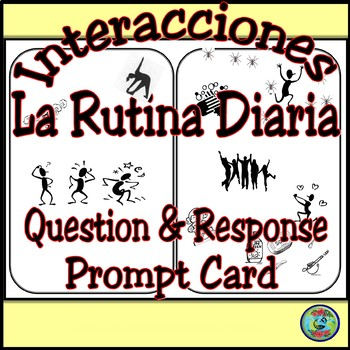 Daily Routine Bilingual Question and Answer Prompt Card