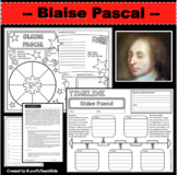 BLAISE PASCAL Research Project Timeline Poster Poem Biography Graphic Organizer