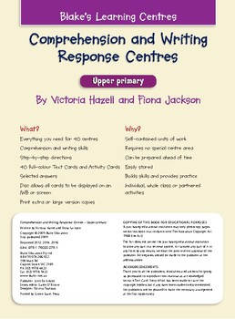 Blake's Learning Centres - Comprehension & Writing Response - Upper Primary