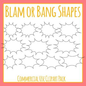 Blam Shapes or Bang Shapes or Attention Getter /Sale / Pop / Splat Outlines