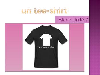 Blanc Unit 7 vocabulary power point