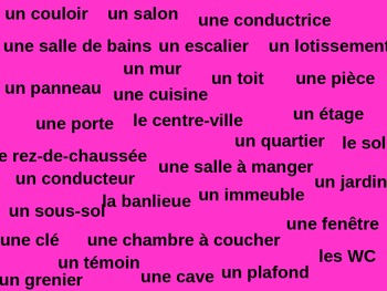 Blanc Units 5 - 9 Tapette à mouches Flyswatter Vocabulary Review