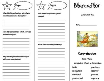 Blancaflor Trifold - California Treasures 5th Grade Unit 3 Week 4