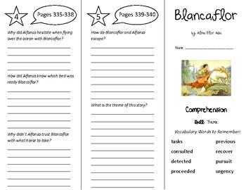 Blancaflor Trifold - Treasures 5th Grade Unit 3 Week 4 (2011)