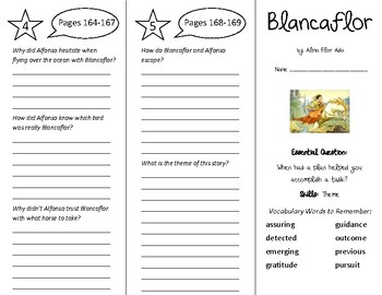 Blancaflor Trifold - Wonders 5th Grade Unit 2 Week 4
