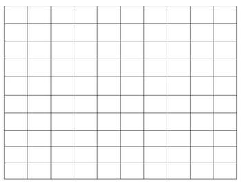 Blank 100 Board Template
