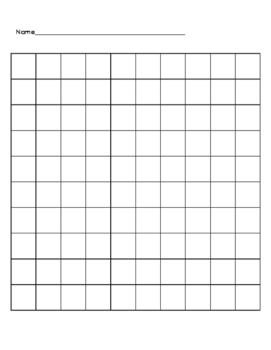 photograph regarding Printable 100s Chart named 100 Chart Blank Worksheets Education Components TpT
