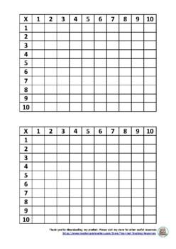 Blank 10x10 Grid