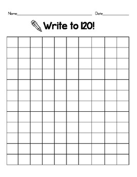 Blank 120 Chart By Erin Schaffner Teachers Pay Teachers