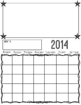 Blank 2014 Calendar