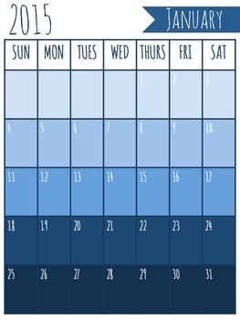 Blank 2015 Calendars