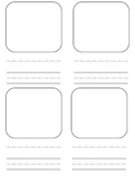 Blank 4 Square Template