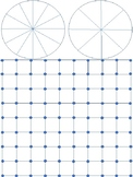 Blank 4 square board with blank spinner circles