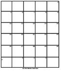 Blank 6 Weeks Planning Calendar