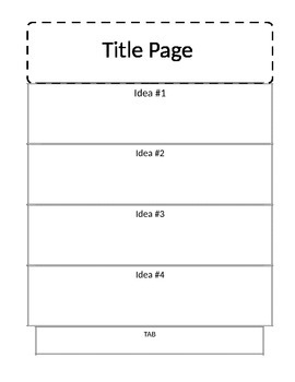 Blank Accordion Book for Interactive Notebooking, Editable in MS Word