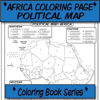 *Coloring Book Page*  Africa Political Map