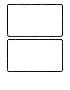 Blank Agenda Cards