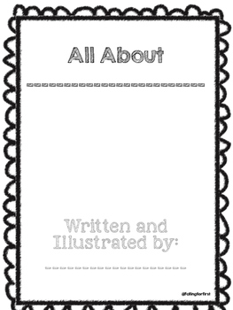 Blank All About Book