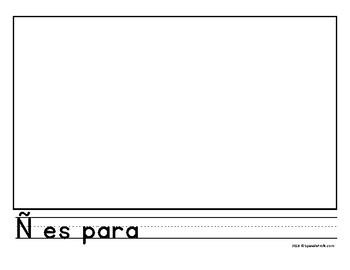 Blank Alphabet Book Pages in Spanish (Alfabeto hojas en blanco para manualidades