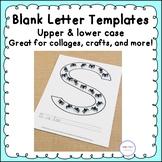 Blank Alphabet Letter Templates