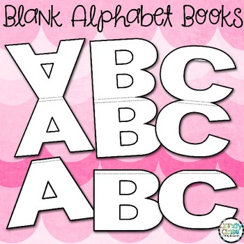 Blank Alphabet Shaped Books for Classroom Use Only
