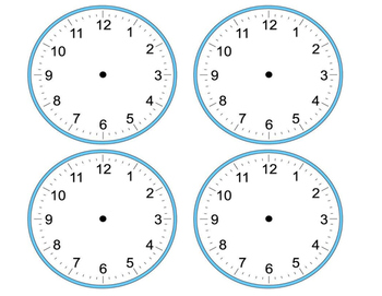 Blank Analog Clocks