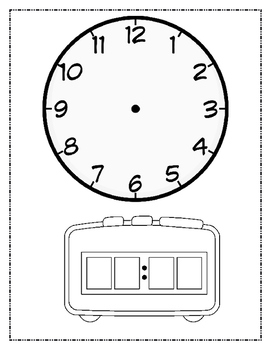 Blank Analog and Digital Clocks