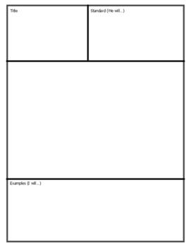 Blank Anchor Chart