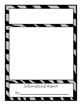 Animal Informational Report Blank Template, Animal Print